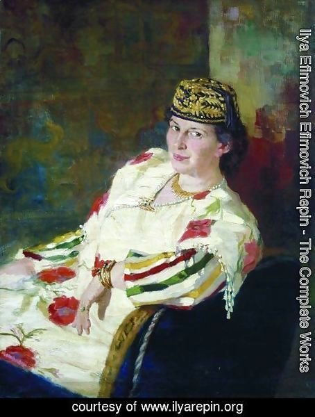 Ilya Efimovich Efimovich Repin - Portrait of patroness and countess Mara Konstantinovna Oliv