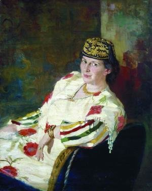 Portrait of patroness and countess Mara Konstantinovna Oliv