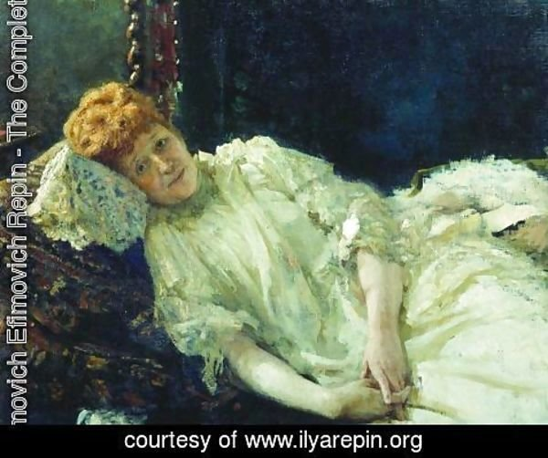Ilya Efimovich Efimovich Repin - Portrait of pianist and comtesse Louise de Mercy-Argenteau