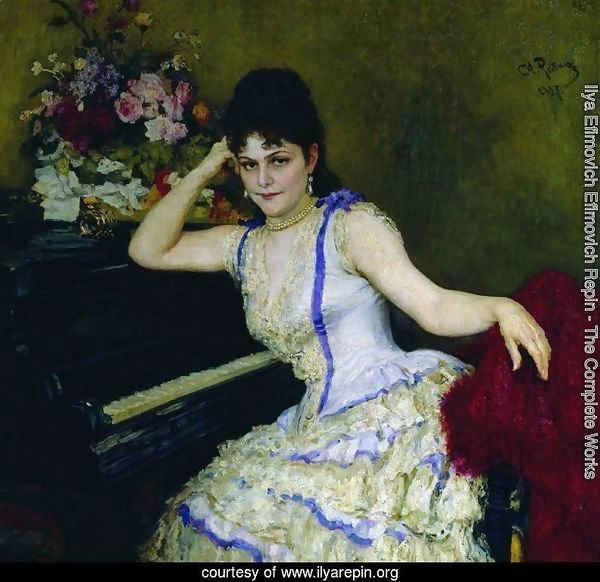 Portrait of pianist and professor of Saint-Petersburg Conservatory Sophie Menter