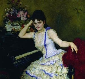 Ilya Efimovich Efimovich Repin - Portrait of pianist and professor of Saint-Petersburg Conservatory Sophie Menter
