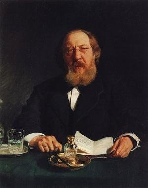 Portrait of poet and slavophile Ivan Sergeyevich Aksakov
