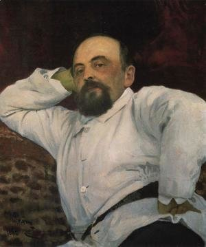 Ilya Efimovich Efimovich Repin - Portrait of railroad tycoon and patron of the arts Savva Ivanovich Mamontov