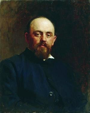 Ilya Efimovich Efimovich Repin - Portrait of railroad tycoon and patron of the arts Savva Ivanovich Mamontov 2