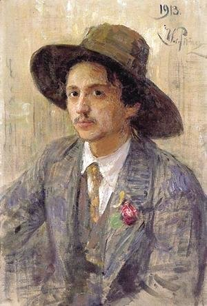 Ilya Efimovich Efimovich Repin - Portrait of the painter Isaak Izrailevich Brodsky