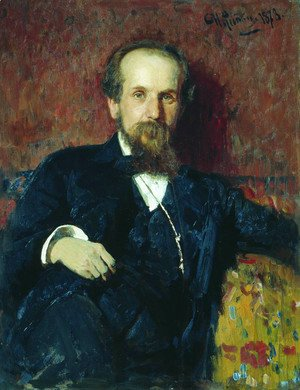 Ilya Efimovich Efimovich Repin - Portrait of the painter Pavel Petrovich Chistyakov