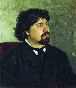 Ilya Efimovich Efimovich Repin - Portrait of the painter Vasily Ivanovich Surikov