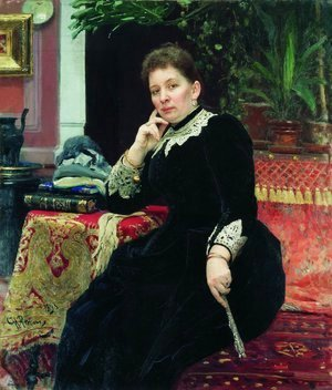 Portrait of the philanthropist Olga Sergeyevna Aleksandrova-Heinz