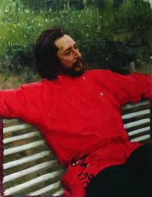 Portrait of writer Leonid Nikolayevich Andreyev (Summer break)