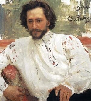 Portrait of writer Leonid Nikolayevich Andreyev