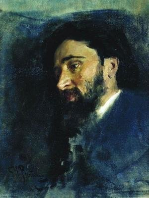 Portrait of writer Vsevolod Mikhailovich Garshin