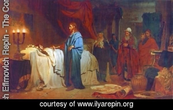 Ilya Efimovich Efimovich Repin - Raising of Jairus' Daughter