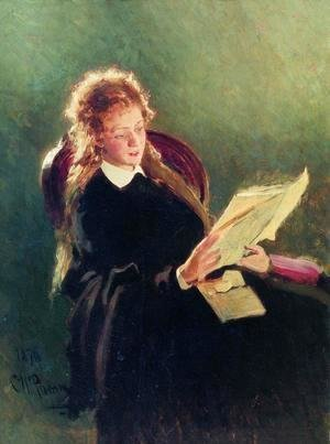 Ilya Efimovich Efimovich Repin - Reading girl