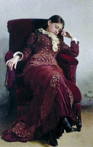 Ilya Efimovich Efimovich Repin - Rest. Portrait of the artist's wife