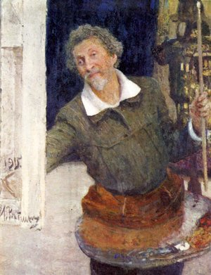 Ilya Efimovich Efimovich Repin - Self-portrait at work