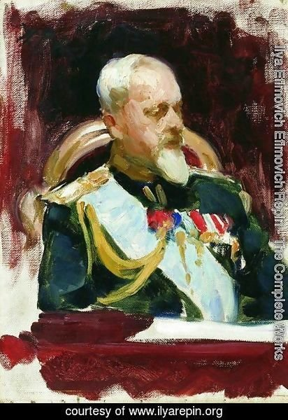 Ilya Efimovich Efimovich Repin - Study for the picture Formal Session of the State Council