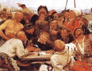 Ilya Efimovich Efimovich Repin - The Reply of the Zaporozhian Cossacks to Sultan of Turkey