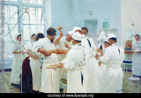 The Surgeon Evgueni Vasilievich Pavlov in the Operating Theater