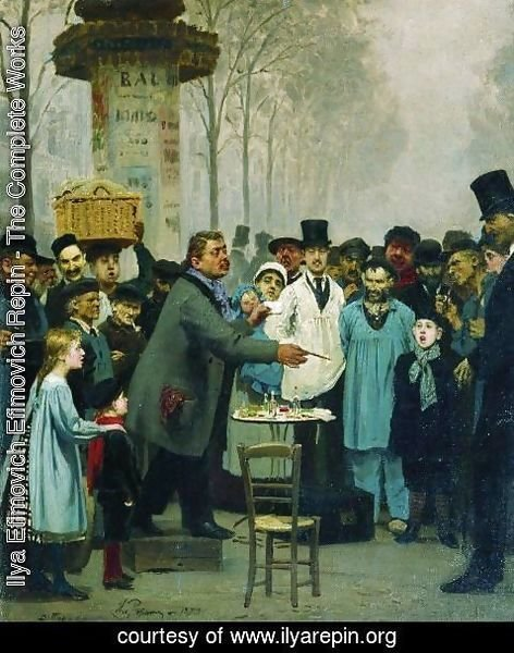 Ilya Efimovich Efimovich Repin - A Newspaper Seller In Paris 1873