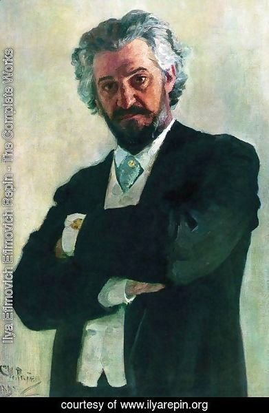 Ilya Efimovich Efimovich Repin - Portrait Of The Chello Player Alexander Verzhbilovich 1895