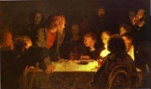 Ilya Efimovich Efimovich Repin - The Revolutionary Meeting 1883