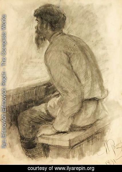 Ilya Efimovich Efimovich Repin - Portrait of a Man seated