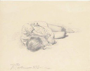 Ilya Efimovich Efimovich Repin - Study of a sleeping child