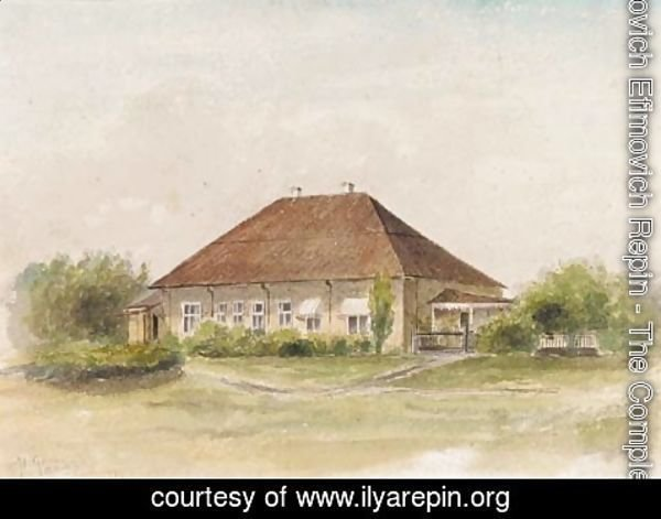 Ilya Efimovich Efimovich Repin - Summer - the House in the Country