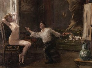 Ilya Efimovich Efimovich Repin - The Artist and his Model