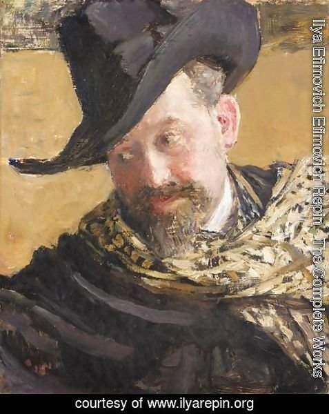 Ilya Efimovich Efimovich Repin - Portrait Of The Artist Vasily Levy