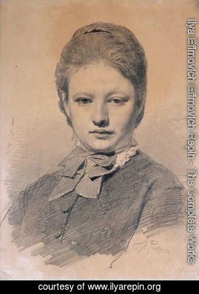 Ilya Efimovich Efimovich Repin - Portrait Of The Artist's Sister-In-Law
