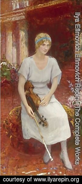 Portrait Of The Violinist Cecile Hansen, Circa 1922