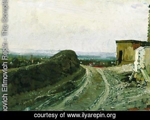Ilya Efimovich Efimovich Repin - The road from Montmartre in Paris