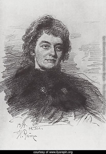 Portrait of Zinaida Nikolayevna Gippius