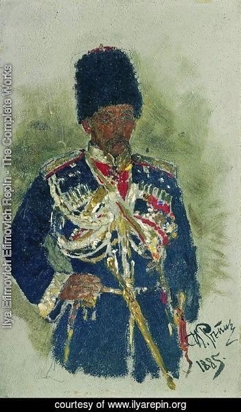 Ilya Efimovich Efimovich Repin - General in the form of royal guards. P.A. Cherevin.