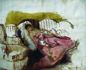 Ilya Efimovich Efimovich Repin - On the couch