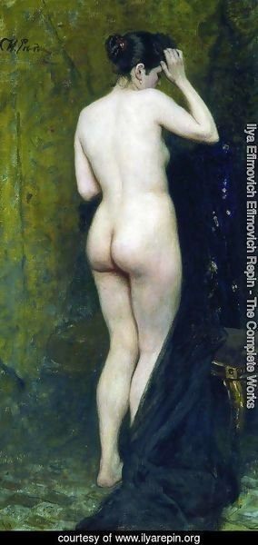 Ilya Efimovich Efimovich Repin - Nude Model (from behind)