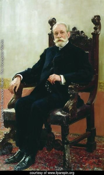 Portrait of the Chairman of the Azov-Don Commercial Bank in St. Petersburg, A.B. Nenttsel