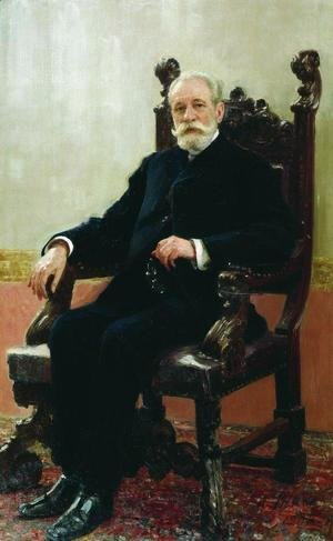 Ilya Efimovich Efimovich Repin - Portrait of the Chairman of the Azov-Don Commercial Bank in St. Petersburg, A.B. Nenttsel