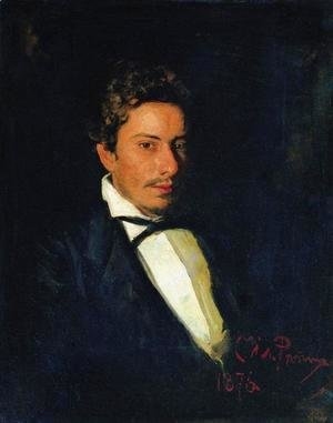 Portrait of V. Repin, musician, brother of the artist