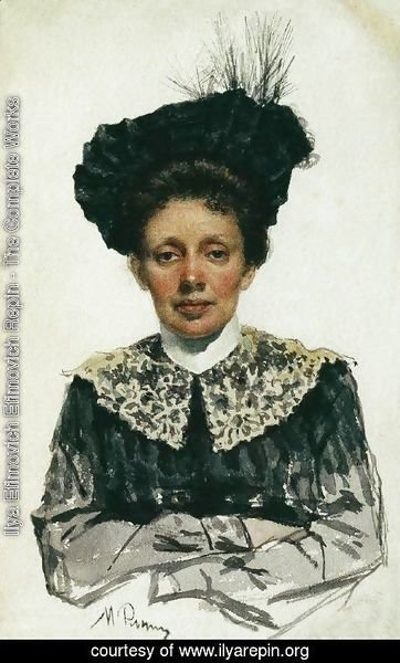 Ilya Efimovich Efimovich Repin - Portrait of an Unknown Woman