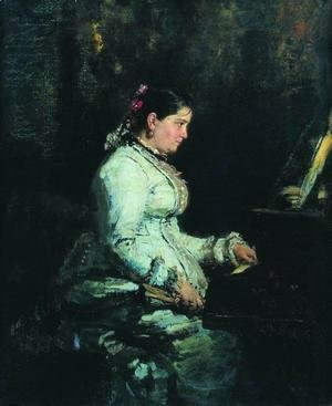 The piano. Portrait of S.V. Tarnovskaya