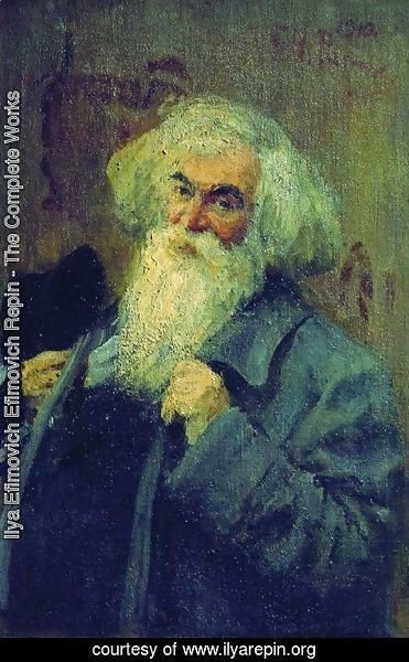 Ilya Efimovich Efimovich Repin - Portrait of the author Ieronim Yasinsky