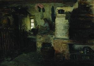 Ilya Efimovich Efimovich Repin - In the hut