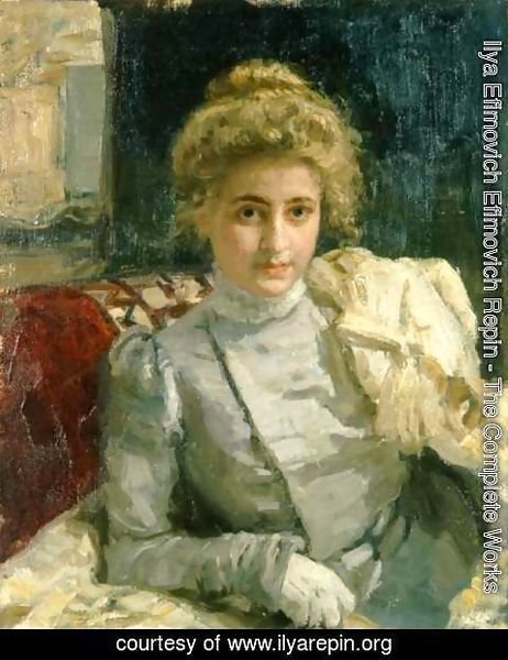 Ilya Efimovich Efimovich Repin - The Blond (Portrait of Tevashova)