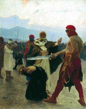 Ilya Efimovich Efimovich Repin - Nicholas of Myra eliminates the death of three innocent prisoners