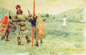 Ilya Efimovich Efimovich Repin - David and Goliath