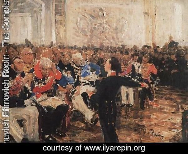 Ilya Efimovich Efimovich Repin - A. Pushkin on the act in the Lyceum on Jan. 8, 1815