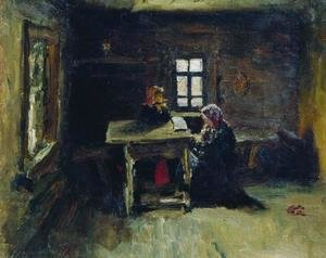 Ilya Efimovich Efimovich Repin - In the hut 2