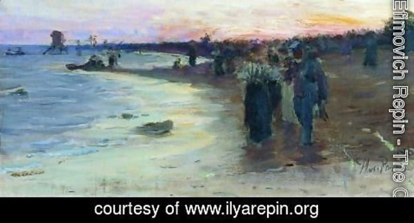 Ilya Efimovich Efimovich Repin - On the shore of the Gulf of Finland